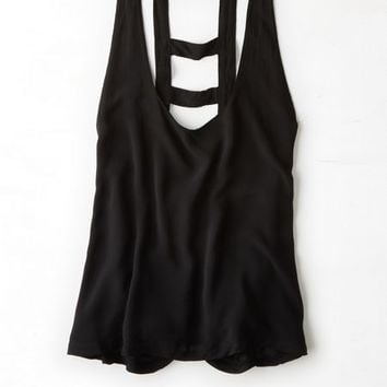 AEO Womenx27s Donx27t Ask Why Bar Back Tank Black