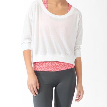 High-Low 3/4 Sleeve Top