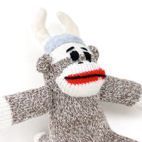 Viking Sock Monkey Doll - Small plush Sock Monkey Doll, Stocking Stuffer, Stuffed Animal