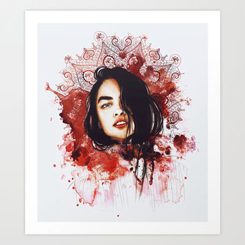 Splash Of Reds Art Print by Sara Eshak