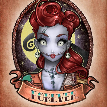 FOREVER pinup Art Print by Tim Shumate