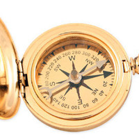 Dalvey Style Compass - 1.75 in. Gold Plated