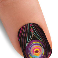 Point the Way Nail Stickers in Peacock | Mod Retro Vintage Cosmetics | ModCloth.com