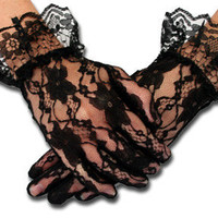 Lace Gloves - Ruffled Wrist