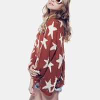 SEEING STARS - LENNON SWEATER at Wildfox Couture in  - BURGUNDY