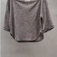 Wool Nep Flair Top — Grey by V::room at HEIST