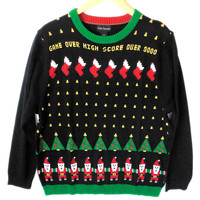 Space Invaders 8-Bit Video Game Tacky Ugly Christmas Sweater