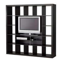 EXPEDIT TV storage unit - black-brown - IKEA