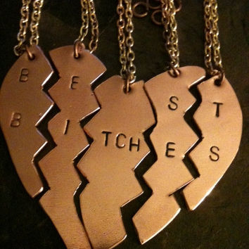 Mature content ... Best fuckin friends forever silver 5 parts sterling chain pendant 68.00 fucking beezies