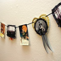 Victorian Witch Halloween Garland Vintage Inspired by flappergirl