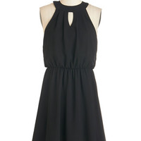 ModCloth LBD Mid-length A-line City Sway Dress in Black
