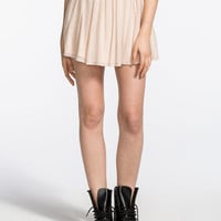 H.I.P. Mesh Skater Skirt Blush  In Sizes