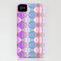 Tribal Diamonds Watercolour Pastel Pink iPhone Case by Amy Sia | Society6