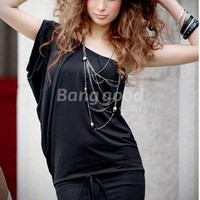 New Korean Ladies Fashion Hot Sexy Slim oblique Shoulder Dress Free Shipping!  - US$22.91