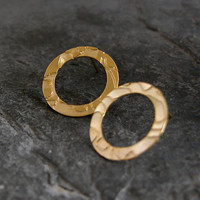 Gold Circle Post Earrings,Gold Studs, Wedding Gold Circle Earrings, Everyday Earrings, Hollow Circle Post Earrings in Gold