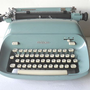 Vintage Manual Typewriter by Royal in Cadet Blue by Flyingace