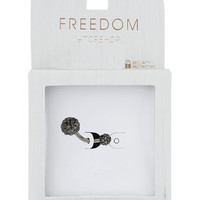Pave Ball Belly Bar - Brown