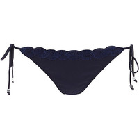 River Island Womens Navy shell trim side tie bikini bottoms