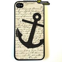 iPhone 4 Case, Vintage Anchor Case Hard Fitted Case For iphone 4 &amp; iphone 4S.