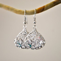 MINIMALIST FILIGREE EARRINGS/ teardrop dangle earrings