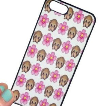 Flower and Monkey Emoji iPhone 6 Cases