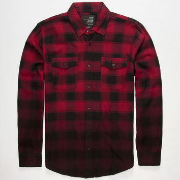 BLUE CROWN Dip Dye Mens Flannel Shirt  Flannels