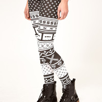 ASOS Leggings 90's Cassette Print at asos.com