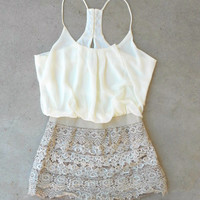 Crochet Macchiato Party Romper [6572] - $37.40 : Vintage Inspired Clothing & Affordable Dresses, deloom   Modern. Vintage. Crafted.