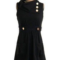 Coach Tour Dress in Noir | Mod Retro Vintage Printed Dresses | ModCloth.com