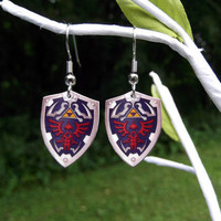 Zelda shield earrings by BohemianCraftsody on Etsy