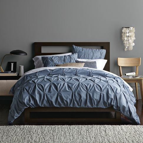 Organic Cotton Pintuck Duvet Cover From West Elm Home