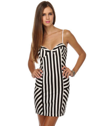 Billabong Oh Yeah Striped Bustier Dress