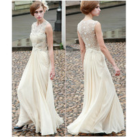 Ivory Lace Chiffon Gown