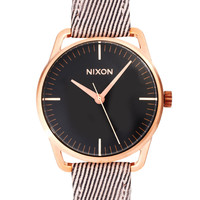 Nixon Chocolate Leather Strap Watch