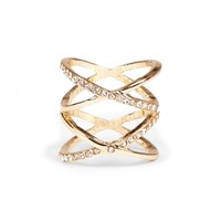 Sole Society Cutout Layered Crystal Ring
