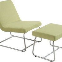 Lazy Day Green Lounge Chair & Ottoman