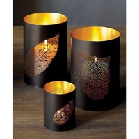 Hakkari Hurricane and Candleholder in Candleholders | Crate and Barrel