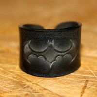 Batman Symbol Ring Choose Your Size by kaykreationsphoto on Etsy