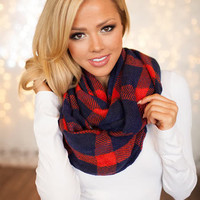 Plaid Checkered Infinity Scarf