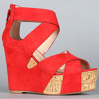 The Jaime Shoe in Red