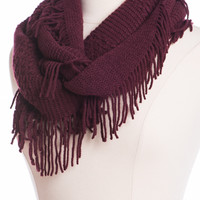 Bundled Up Infinity Scarf, Wine
