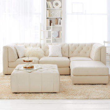 Rosario Leather Modular Living Room Furniture Collection