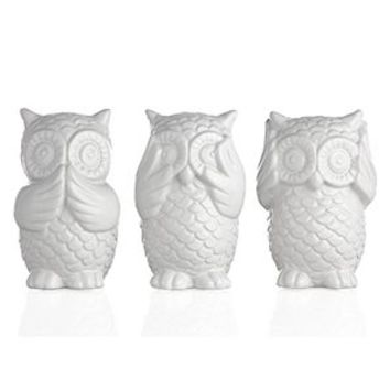 3 Wise Owls  Decorative Accessories  Home Accents  Decor