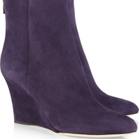 Jimmy Choo | Mayor suede wedge boots | NET-A-PORTER.COM