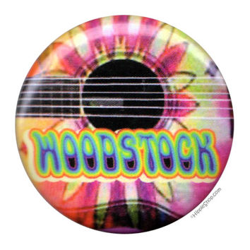 Woodstock Guitar Button on Sale for 0.99 at HippieShop.com