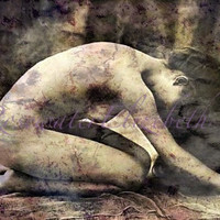 Distraught Altered Repro Photo Print Mature