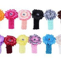 Bundle Monster 24-Piece Daisy Flower Clip Crocheted Baby Headbands / Hair Clips Mixed Color Lot for Girls - Fits 0 to 5yrs Toddler: Amazon.com: Clothing