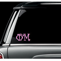 Sorority Vinyl Car Decal 3 inch Curlz Font by olivetreemonograms
