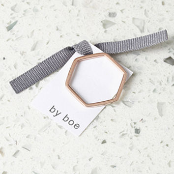 by boe Hexagon Band Ring