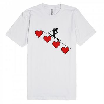 Downhill - Love the downhill-Unisex White T-Shirt